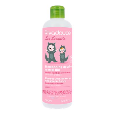 Shampoo and shower gel with organic honey delicious raspberry scent - RIVADOUCE - Hair - Baby / Children