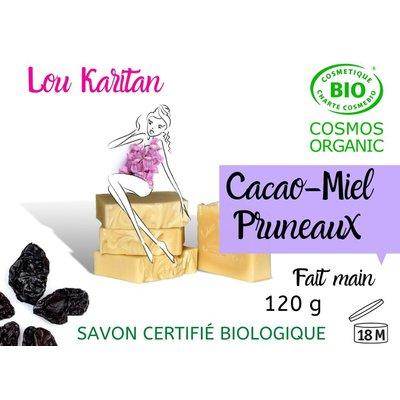 Savon Cacao Miel Pruneaux - Lou Karitan - Hygiène
