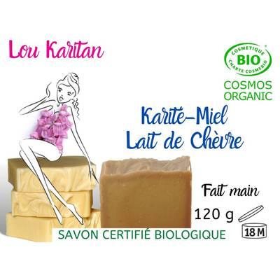 Savon Karité Miel Lait de Chèvre - Lou Karitan - Hygiène