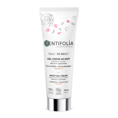 Gel-crème de nuit ECLAT DE ROSE - Centifolia - Visage