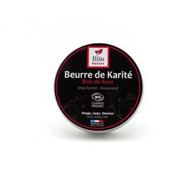 Beurre de Karité Bois de Rose - Biio Nature - Visage - Corps - Cheveux - Massage et détente