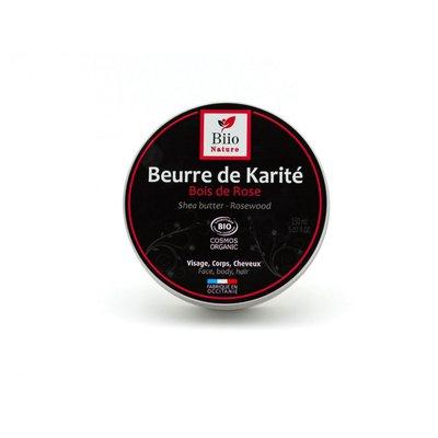 Beurre de Karité Bois de Rose - Biio Nature - Visage - Cheveux - Massage et détente - Corps