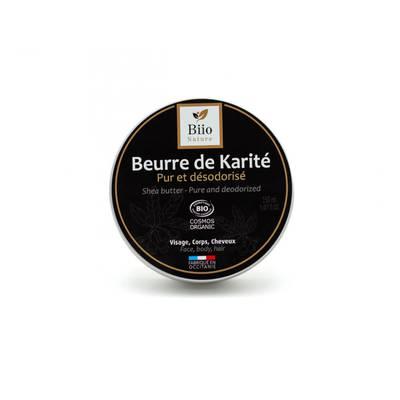 Beurre de karité pur et désodorisé - Biio Nature - Visage - Corps - Cheveux - Massage et détente