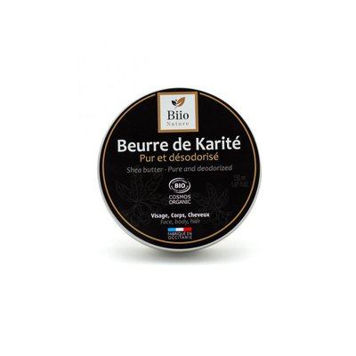 Beurre de karité pur et désodorisé - Biio Nature - Visage - Cheveux - Massage et détente - Corps