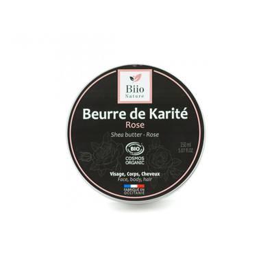 Beurre de karité - Rose de Damas - Biio Nature - Visage - Corps - Cheveux - Massage et détente