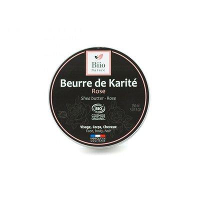 Beurre de karité - Rose de Damas - Biio Nature - Visage - Cheveux - Massage et détente - Corps