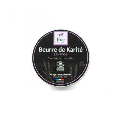 Beurre de karité Lavande - Biio Nature - Visage - Cheveux - Massage et détente - Corps