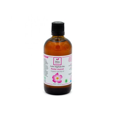 Huile végétale Rosier Muscat - Biio Nature - Visage - Cheveux - Massage et détente - Corps