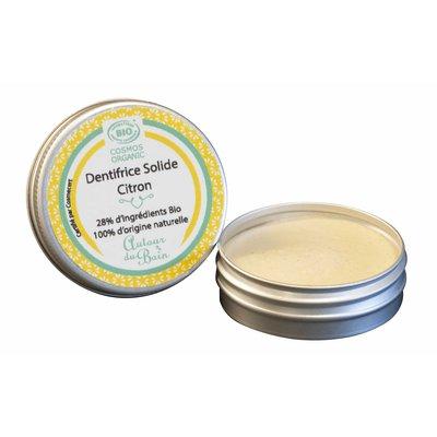 Dentifrice solide à l'huile essentielle de citron Jaune (Rechargeable) - AUTOUR DU BAIN - Hygiène
