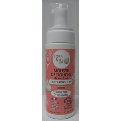 MOUSSE DE DOUCHE FRUITS ROUGES - BORN TO BIO - Hygiène