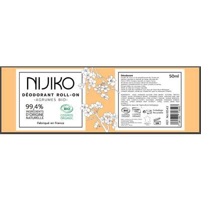 Déodorant Roll-On Agrumes Bio - NIJIKO - Hygiène