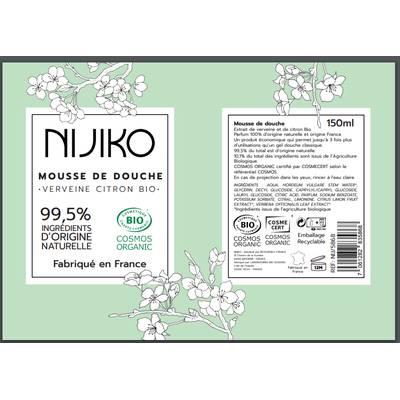 Mousse de Douche Verveine Citron - NIJIKO - Corps - Hygiène