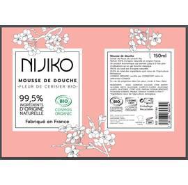 Mousse de Douche Fleur de Cerisier Bio - NIJIKO - Corps - Hygiène