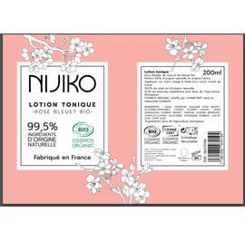 Lotion Tonique Rose Bleuet Bio - NIJIKO - Visage