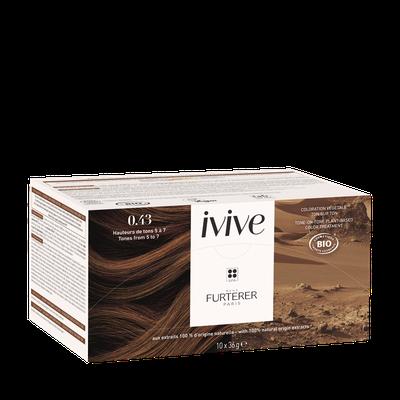 René Furterer 0.43 Marron clair cuivré naturel - Coloration capillaire végétale professionnelle - IVIVE - RENE FURTERER - Cheveux