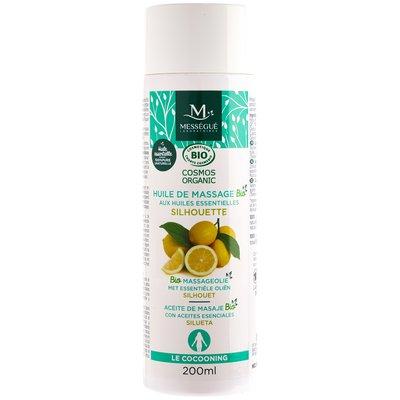 huile de massage bio aux huiles essentielles - silhouette - messegue - Massage et détente