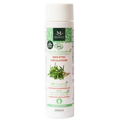 huile de massage bio aux huiles essentielles - Bien Etre Circulatoire - messegue - Massage et détente