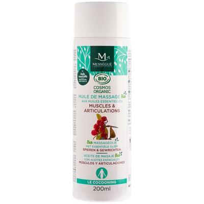 huile de massage bio aux huiles essentielles - muscles et articulations - messegue - Massage et détente