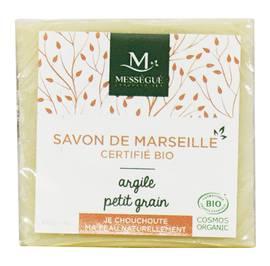 Savon de Marseille Argile Petit Grain - messegue - Hygiène