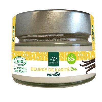 Beurre Karité vanille - messegue - Visage - Cheveux - Corps