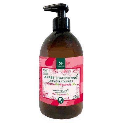 Après-shampooing - cheveux colorés - Hibiscus Bio & Grenade Bio - messegue - Cheveux