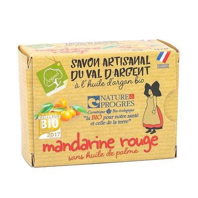 savon artisanal à la MANDARINE ROUGE - ARGASOL - Hygiène