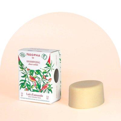 Shampoing doux solide lait d'amande – cheveux secs - Neopha - Cheveux