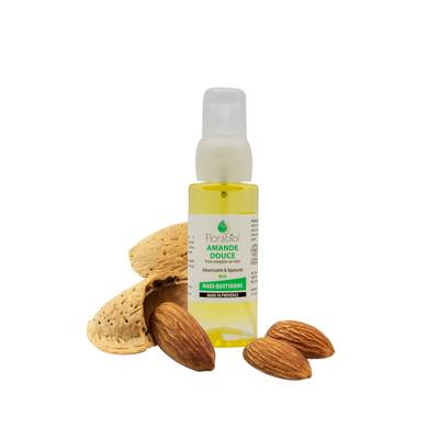 Sweet almond Vegetable Oil - FLORABIOL - Body - Baby / Children - Massage and relaxation - Face - Hair - Diy ingredients
