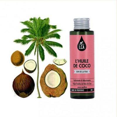 Huile de Noix de Coco - LCA - Cheveux - Massage et détente - Corps