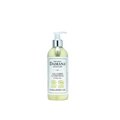 Gel Corps & Cheveux à l'aloe vera - Damana Organic Bath Line COSMOS - Corps - Hygiène - Cheveux
