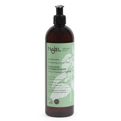 Shampooing au savon d'Alep cheveux gras - Najel - Cheveux