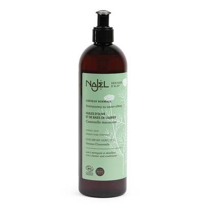 Shampooing au savon d'Alep cheveux normaux - Najel - Cheveux
