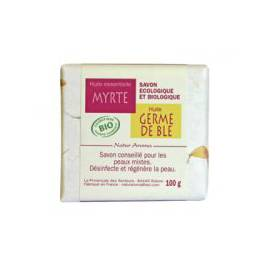 image produit Organic soap wheat germ - myrtle