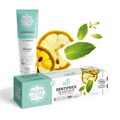 DENTIFRICE BLANCHEUR goût menthe - PULPE DE VIE - Hygiène