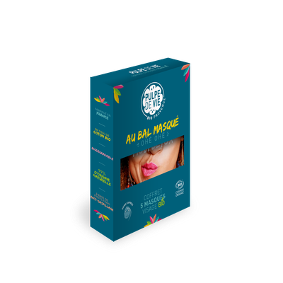 "COFFRET ""AU BAL MASQUE"" 5 masques tissu visage - PULPE DE VIE - Visage"