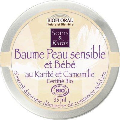 Baume peau sensible et bébé - Biofloral - Bébé / Enfants - Massage et détente