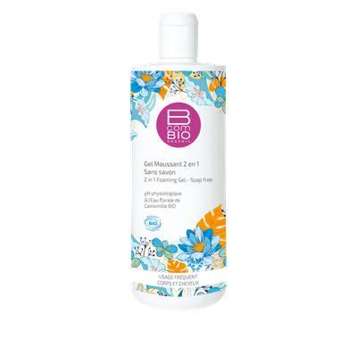 Gel moussant 2en1 Sans savon - BcomBio - Hygiène