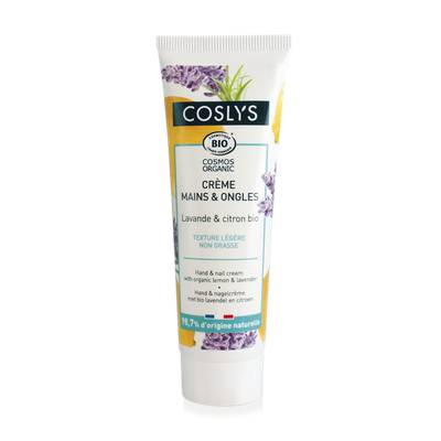 Hand and nail cream with organic lemon & lavender - Coslys - Body