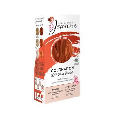 Coloration végétale - Cuivré intense - Les couleurs de Jeanne - Cheveux