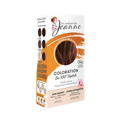 Coloration végétale -  Châtain foncé - Les couleurs de Jeanne - Cheveux