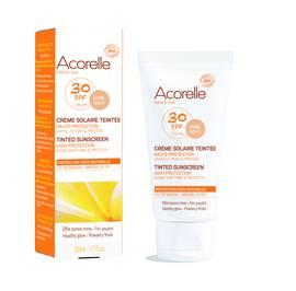 Crème solaire teintée SPF 30 - ACORELLE - Solaires