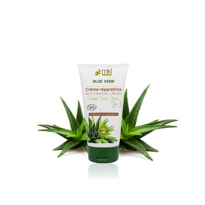 Crème réparatrice Aloe Vera 3en1 - MKL Green Nature - Visage