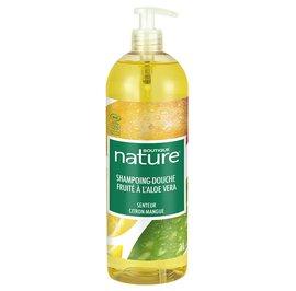 Shampoing douche fruité à base d'Aloe vera Senteur citron-mangue - Boutique Nature - Hygiène - Cheveux - Corps