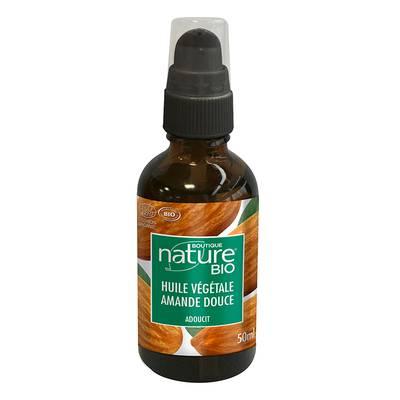 Huile végétale amande douce - Boutique Nature - Massage et détente - Corps
