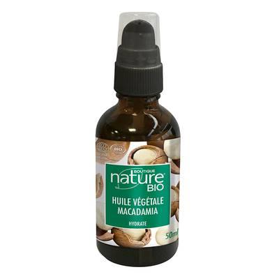 Huile végétale macadamia - Boutique Nature - Massage et détente - Corps
