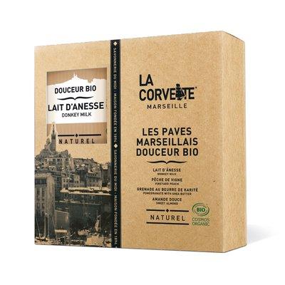 """Coffret Pavés Marseillais """"Douceur Bio"""" - La Corvette - Hygiène"""