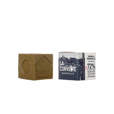 Cube de Savon de Marseille Olive - La Corvette - Hygiène