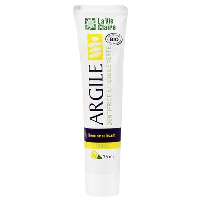 Dentifrice à l'argile Citron - LA VIE CLAIRE - Hygiène