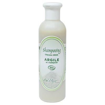 Shampooing cheveux gras - Argile et Romarin - Ciel d'Azur en Provence - Cheveux