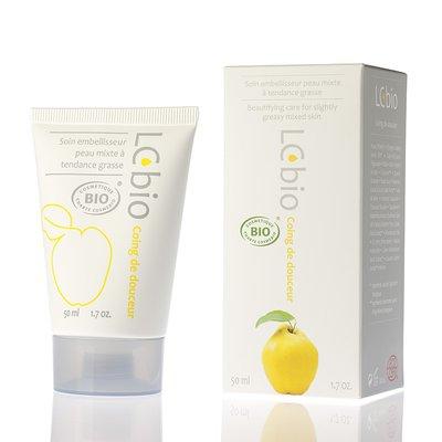 Coing de douceur - Soin crème matifiant, traitant et embelisseur pour peaux jeunes ou mixtes à tendances grasses - LCbio - Visage